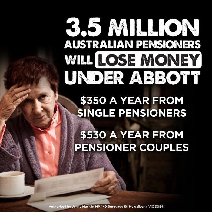 3.5 million Australian pensioners will lose money under Abbott.