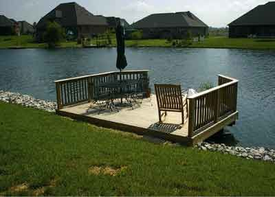 professional deck builder building a stationary dock get a deck built by rentahubby - Boat Dock Design Ideas