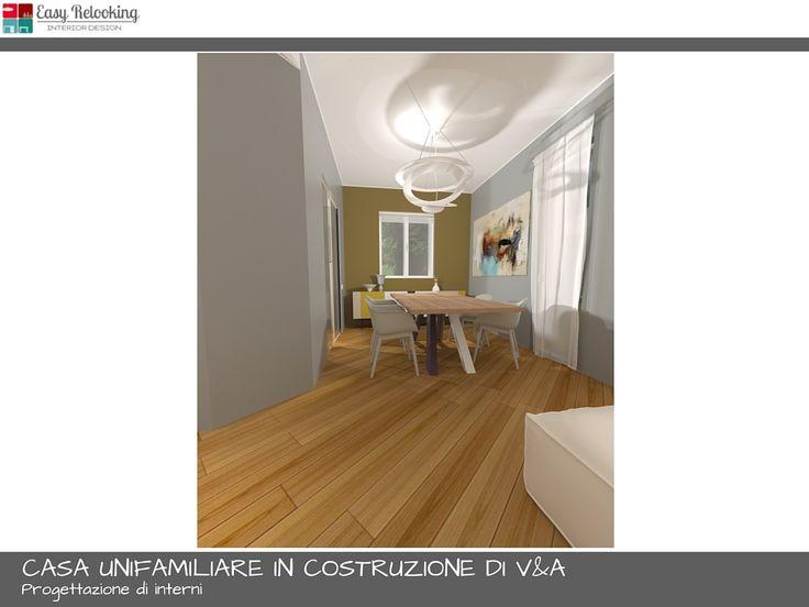 Progettazione soggiorno con cucina separata | My easy relooking blog ...