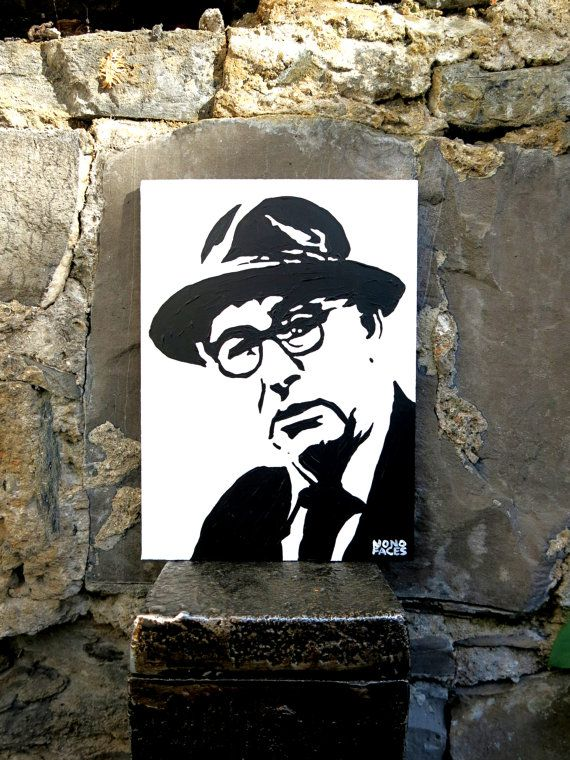 Hand painted acrylic piece of art of Patrick Kavanagh by MONOFACES, €14.00