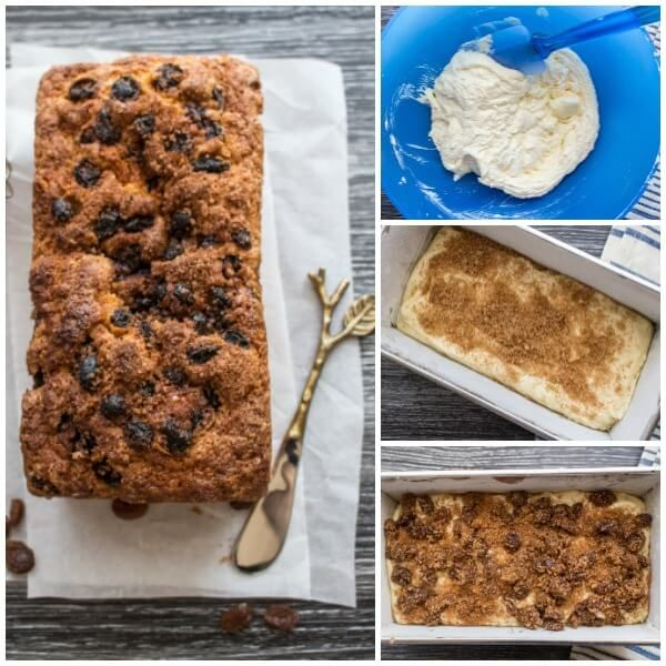 Easy Cinnamon Raisin Quick Bread, is the perfect breakfast, snack or dessert Loaf, not too sweet, cake like cinnamon bread is so Delicious.