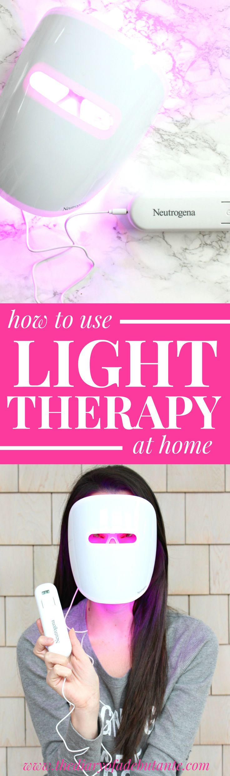 How to use light therapy at home with Neutrogena's brand new Light Therapy Acne Mask! Light therapy has been known to smooth overall skin tone, build collagen, reduce the appearance of wrinkles and blemishes, repair sun damage, and create a overall healthy glow around your face... so if you aren't happy with your skin, give it a try!