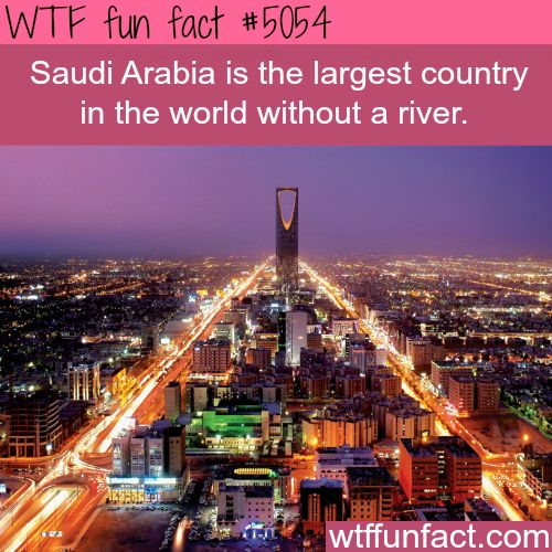 Facts about Saudi Arabia - WTF fun facts