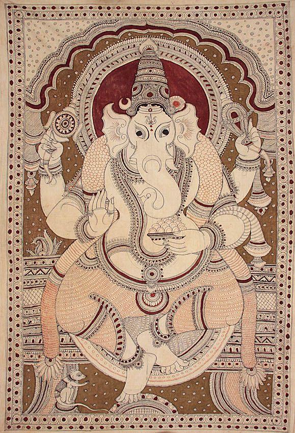 Indiaan Painting of Lord Ganesh.