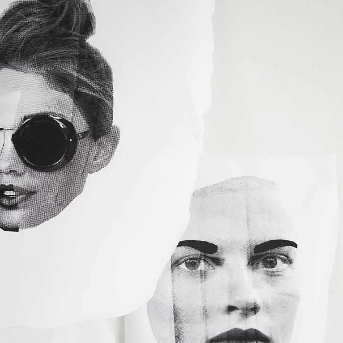 black and white fashion collage portraits / erin flannery