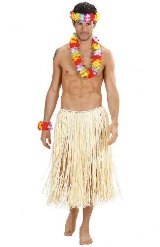 Set hawaii multicolore lusso, formato da collana, bracciali e corona per la testa. Per la tua festa hawaiana in spiaggia, scegli questo bel seti di accessori multicolori per arricchire il tuo look!