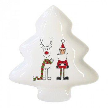 Petite assiette Père Noël et renne