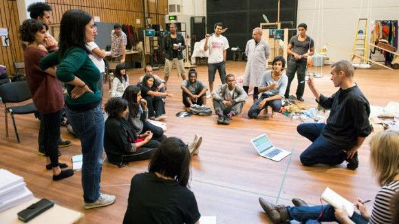 Meera Syal and cast rehearse NT's Behind the Beautiful Forevers - Photos - 20 Oct 2014