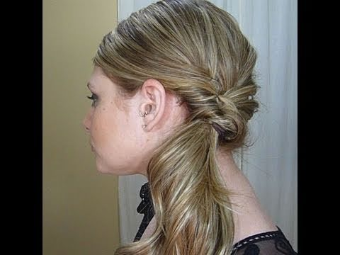 How to do a quick formal style in under ten minutes!; (It's a fancy side ponytail.)    Follow Me on Twitter! http://twitter.com/hairgirl247  Follow My Blog! http://www.hairgirl247.blogspot.com/