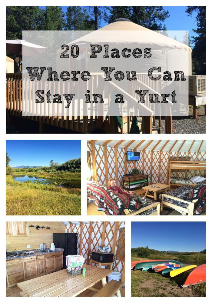 Ever thought about booking a stay in a yurt? Here are 20 campgrounds where you can do just that. Have fun!
