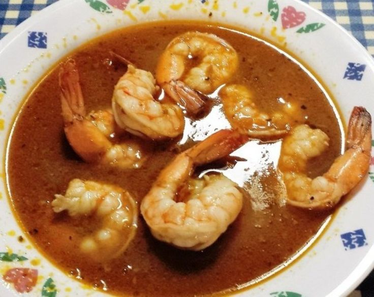 Copy Cat version of the famous dish served at the Killer Shrimp Restaurant in Marina del Rey. Spicy and rich broth with shrimp swimming happily.