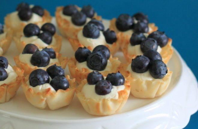 No-Bake Blueberry Cheesecake Mini Tarts | Kitchen Treaty