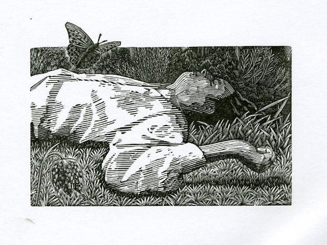 Andy English wood engraving