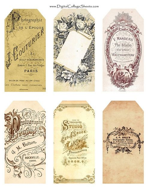 Gorgeous vintage tags! Hoping for a design project where I can do something similar.