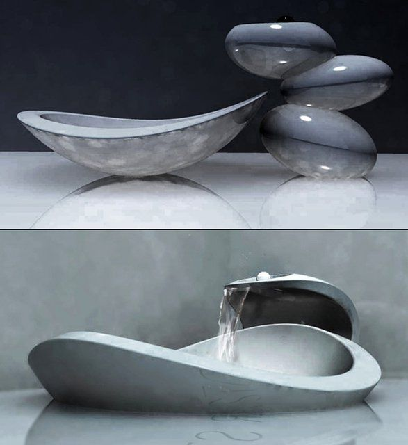 water stone faucet.