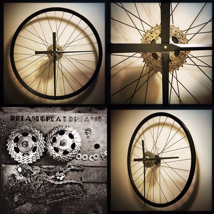 I never get tired of making my Bike Wheel Clocks. transforming parts rescued from a recycling bin, dirty and greasy, to a stunning piece of functional art. I'm so grateful to my customers, without them I wouldn't be able to do what I do.  you guys rock!