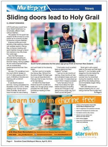 Sunshine Coast Daily - Multisport Mecca Story - 2 page article.