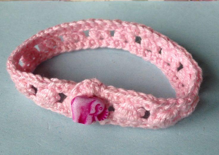 Braccialetto all'uncinetto #crochet #bracelet #elephant #diy