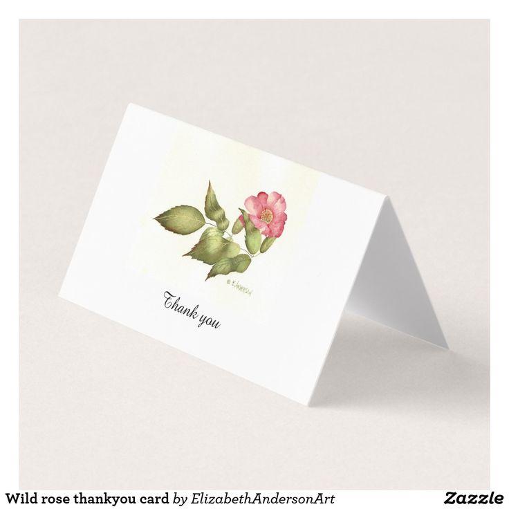 Wild rose thankyou card