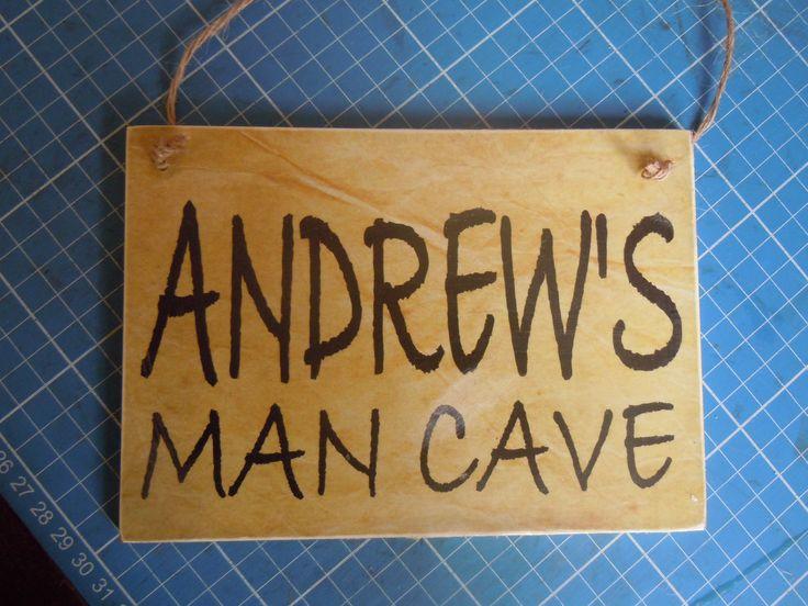 Man Cave plaque