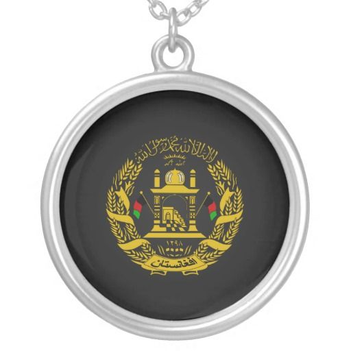 Afghan coat of arms pendants