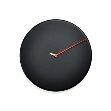 Less Wall Clock Black by Alberto Sala #productdesign #industrialdesign