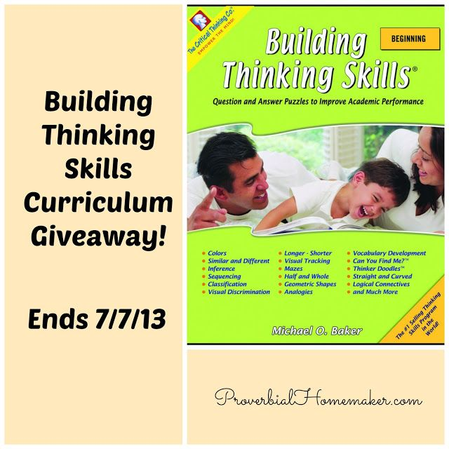 the critical thinking company curriculum Critical thinking co produces award-winning products that have helped students of all abilities achieve better grades and higher test scores with highly effective lessons that sharpen the mind as they teach standards-based reading, writing, mathematics, science, and history critical thinking co products are fun, easy to.
