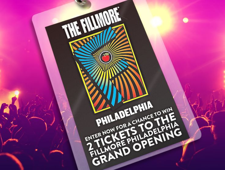 Enter for your chance to win 2 tickets to The Fillmore Philadelphia Grand Opening (date TBD).