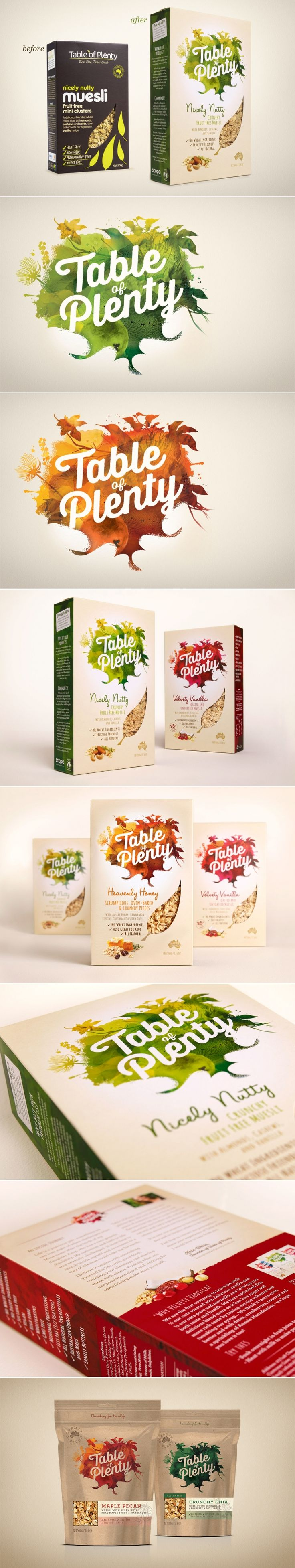 Before & After: Table of Plenty — The Dieline | Packaging & Branding Design & Innovation News