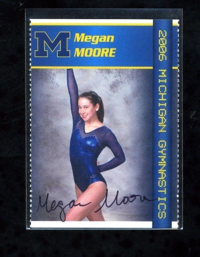 MEGAN MOORE 2006 Univ of Michigan Gymnastics autographed card Sophomore in Sports Mem, Cards & Fan Shop, Cards, Other Sports Trading Cards   eBay