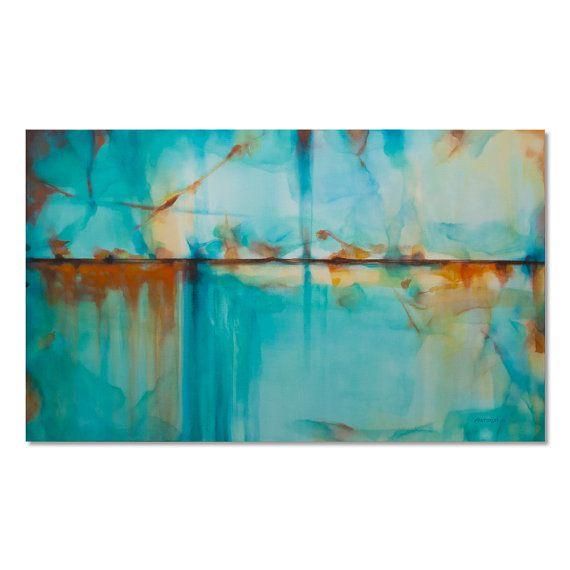 1000 ideas sobre pinturas abstractas al leo en pinterest - Pintura azul turquesa ...