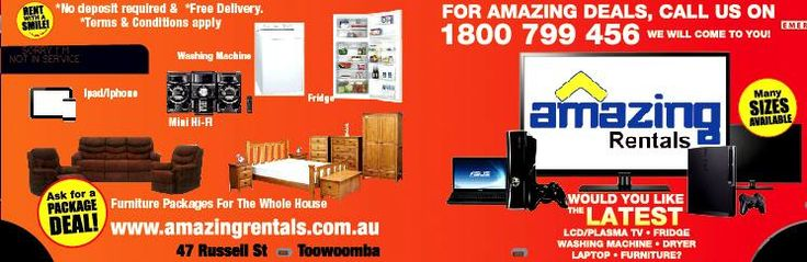 Furniture and White Good Rental Company in Australia - In Australia, there are various companies specializing in these products and services. Among the leading firms in the furniture/white good rental business is Amazing Rentals. They service to clients located in Queensland and in the Northern Region. For years, they have already served many clients in Australia.