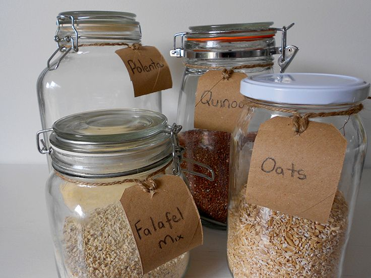 Make recycled food labels for your plastic free and zero waste pantry