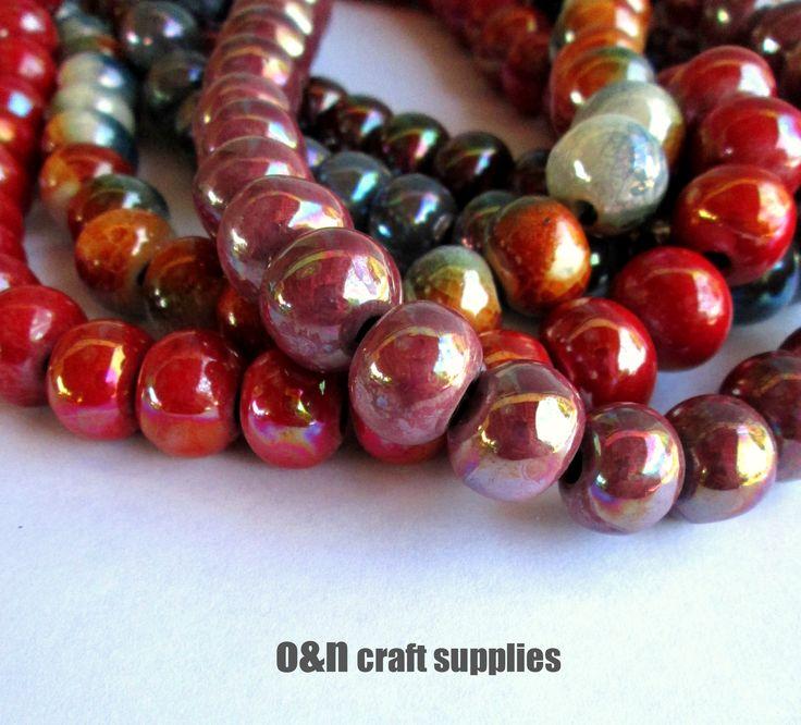 Fall colors  #ceramicbeads #jewelrysupplies #jewelrymaking #beads