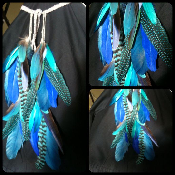 'Blue Mermaid' boho / bohemian headband .. Available for purchase.   Contact to order your custom design  Featherfunaustralia@gmail.com
