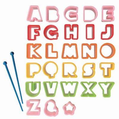 Alphabet Food Cutters http://littlebentoworld.com/shop/food-cutters/alphabet-food-cutters/