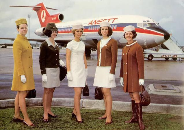 "Ansett's ""look"" of the 70s."