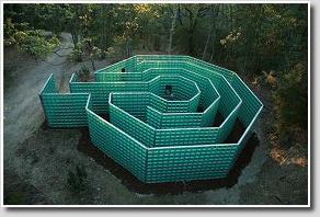 Glass Labyrinth atChianti Sculpture Park, Tuscany, Italy