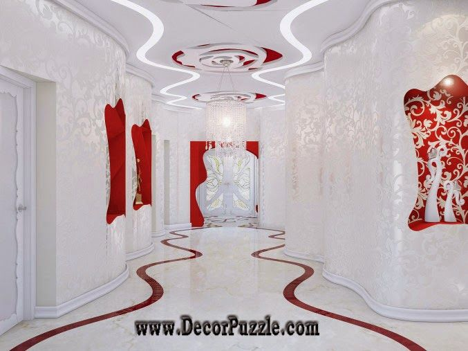 modern plaster of paris design for hallway ceiling designs 2015