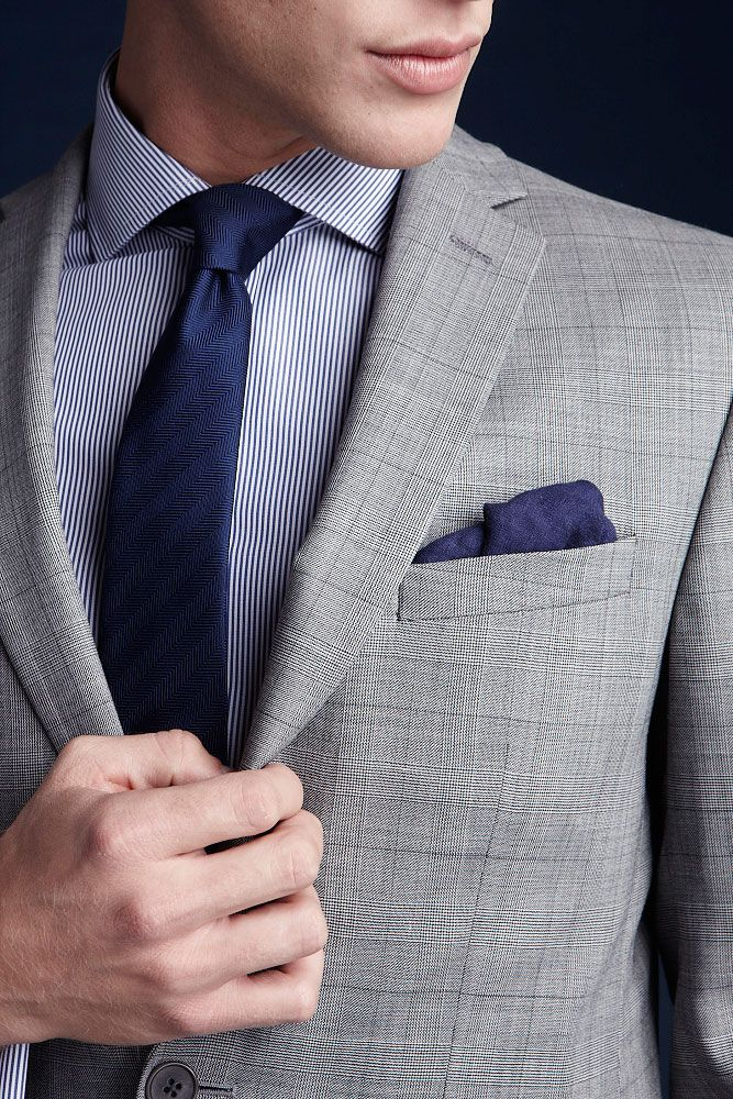 This grey check is the perfect way to be that bit more cavalier with your outfit.