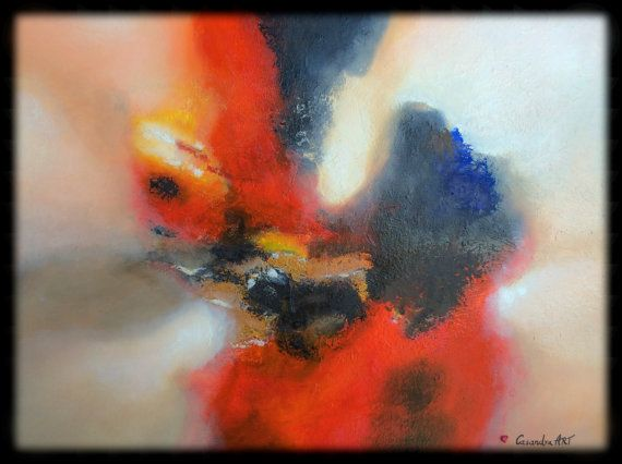 Original Abstract Painting  Mixed  Media  Oil  on  by CasandraART, $680.00