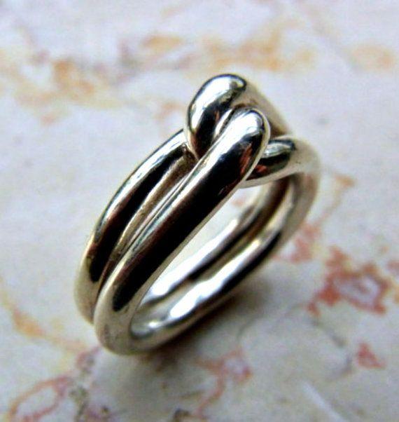 Eternity men ring. Men knot ring. Infinity man ring. by shmukies
