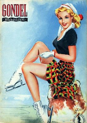Who knew the West German's had such nice pin-up magazines - Gondel Magazine Covers From 1952