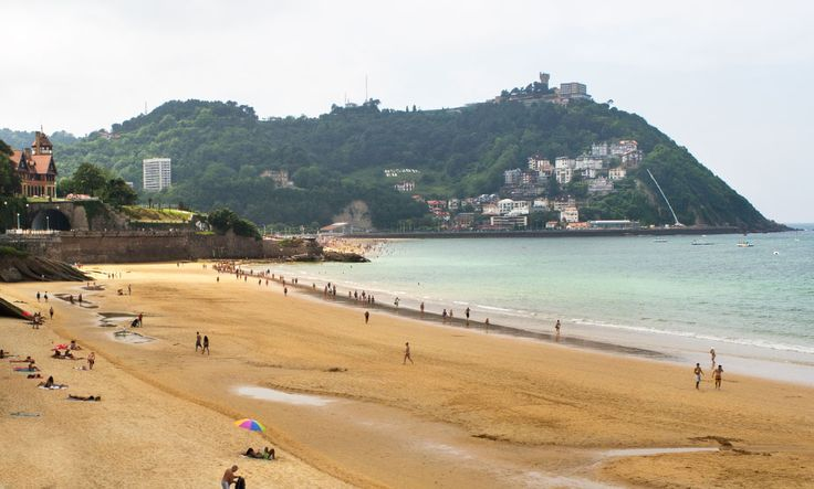 La Concha Beach ~ the most beautiful urban beach in Europe, is adorned by luxurious beachside mansions as well as the famous spa called La Perla (The Pearl). #San_Sebastian #Beaches #La_Concha_Beach