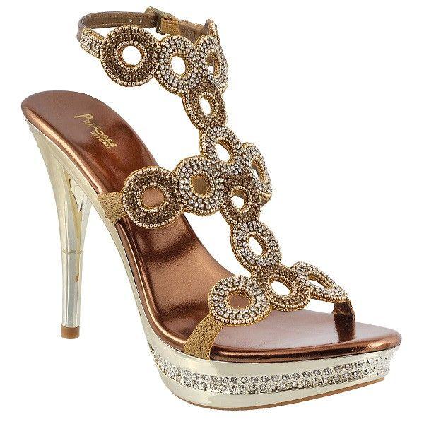 Princess Antiq-Gold Wedding Sandals