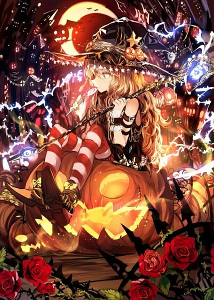 Halloween Anime witch girl