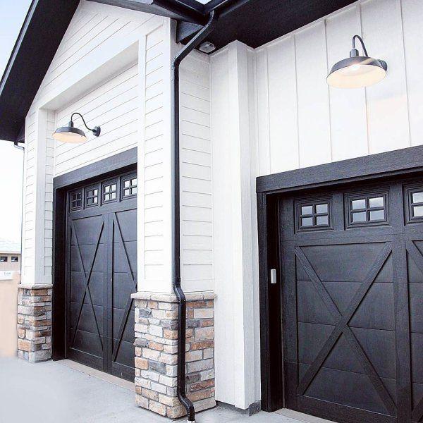 Tricorn Black Sw 6258 Sherwin Williams Garage Door Design Garage Doors Black Exterior Doors