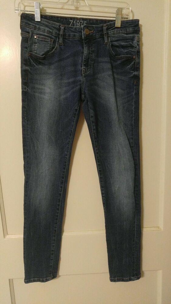 e0166c0cf1ac Z1975 Zara Basic Denim Jeans 38 Low Rise Skinny Fit Size 6 Blue ...