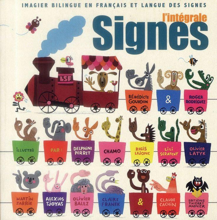 Ce recueil est une compilation des 10 ouvrages bilingues français/LSF de la collection « Signes ». Contient : signes d'animaux, de gourmandises, d'émotions, de voyage, de maisons, d'indiens, de mer, d'école, de Noël, et ABCD signes. Très belles illustrations. Contient 432 pages. Dim. 17 x 17 x 4.2 cm. Dès 3 ans.