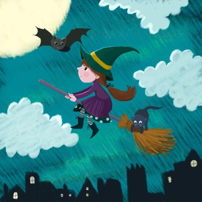 Melanie Mitchell - Witch Girl, Halloween, Bat, Melanie Mitchell Jpeg